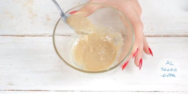 ماسك الطحينة والسكر والحليب لتوحيد لون البشرة وازالة البقع