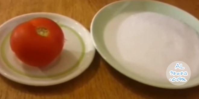 ماسك الطماطم والسكر لتوحيد لون البشرة وازالة البقع