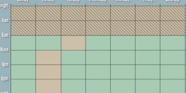 جدول نظام الصيام المتقطع لمدة 24 ساعة كاملة
