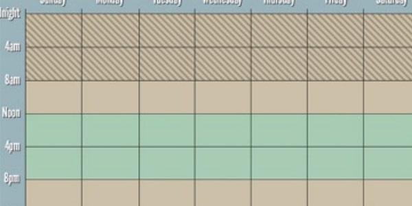 جدول نظام الصيام المتقطع 16 - 8