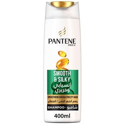 شامبو بانتين pantene smooth and silky للشعر المجعد