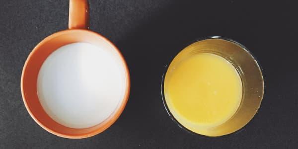 غسول الحليب والبرتقال للبشرة الدهنية