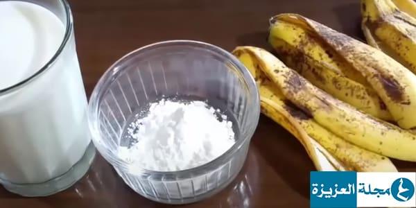 خلطة قشر الموز والنشا لفرد الشعر