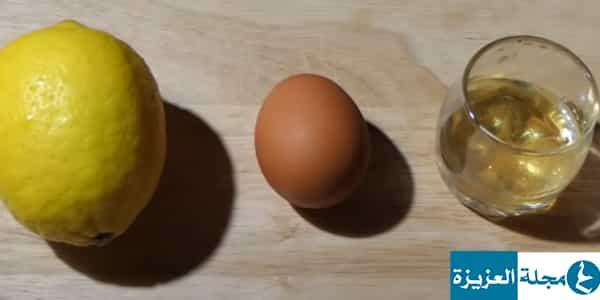 وصفة البيض والليمون والعسل لتطويل الشعر