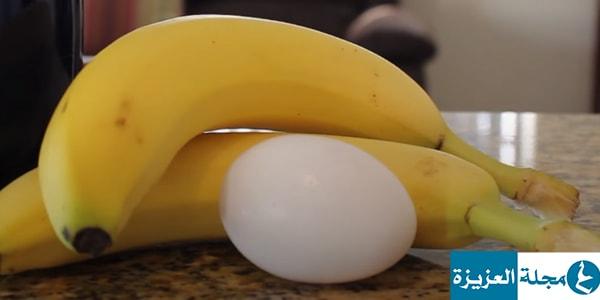 وصفة البيض والموز لتطويل الشعر وتغذيته