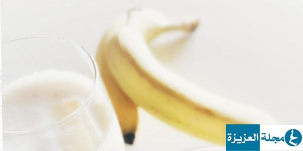 وصفة الموز والحليب لتنعيم الشعر الجاف والمجعد