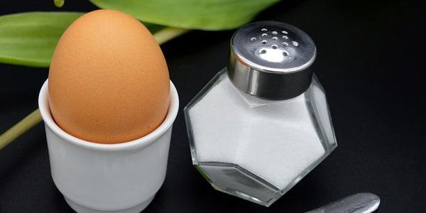 بيض وملح