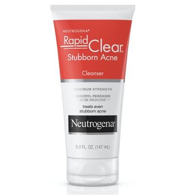 غسول Neutrogena Rapid Clear Stubborn Acne Cleanser للبشرة الدهنية وحب الشباب