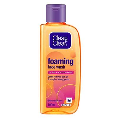 غسول clean and clear foaming face wash للبشرة الدهنية