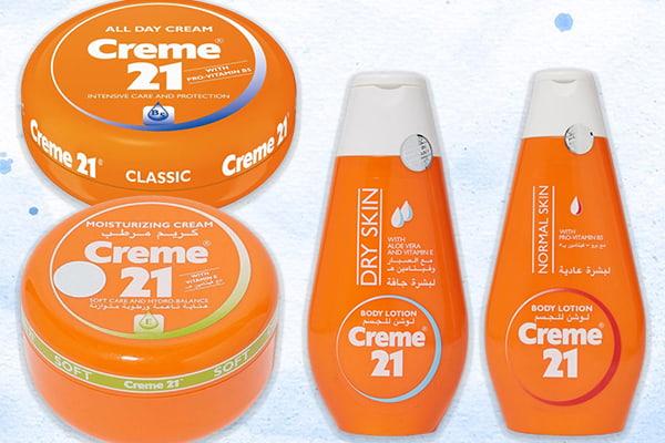 مجموعة كريم 21 البرتقالي للوجه والجسم