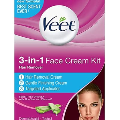كريم Veet Facial Hair Remover Cream Kit