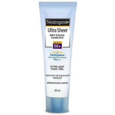 واقي شمس نيتروجينا Neutrogena Ultra Sheer Dry Touch Sunblock SPF 50+ Sunscreen للبشرة المختلطة