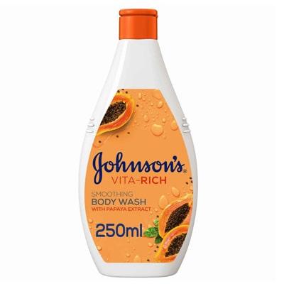 صابون سائل للاستحمام من جونسون بالبابايا