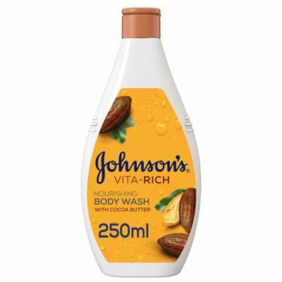 صابون سائل للجسم جونسون بزبدة الكاكاو