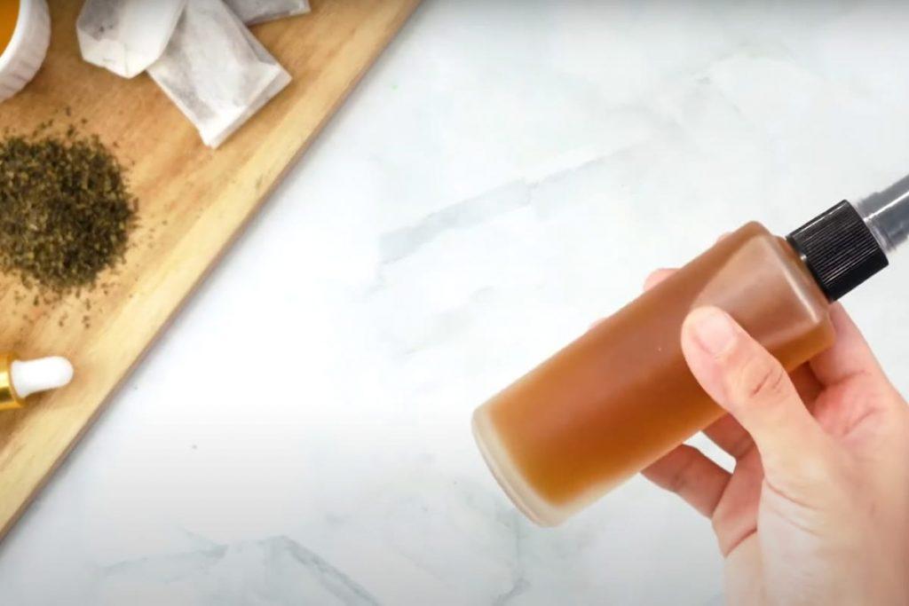 طريقة تحضير تونر الشاي الاخضر