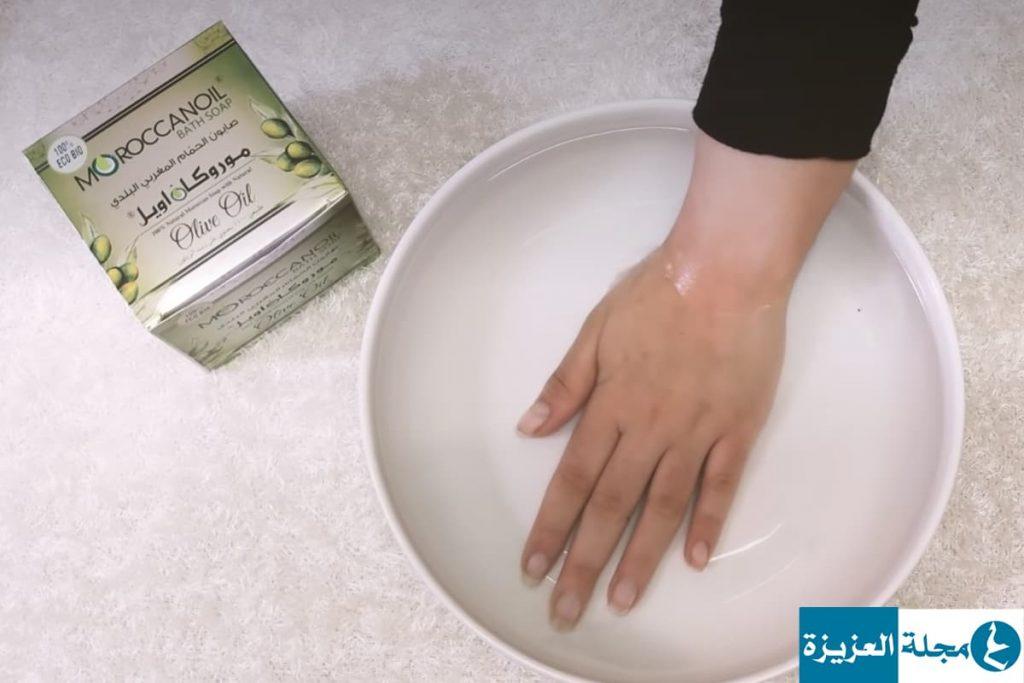 كيفية استعمال الصابون المغربي